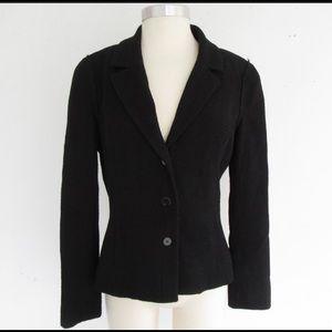 authentic CHANEL size 40 Black Wool BOUCLÉ jacket